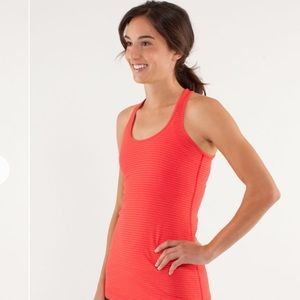 Lululemon Love Red Stripe Cool Racerback Tank 6