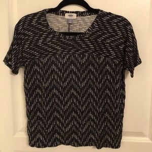 Black and white printed top from Old Navy