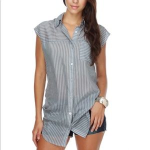 RVCA}•steel your cloud blue stripe tunic