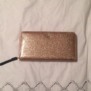 Sparkly Rose Gold Glitter Wallet