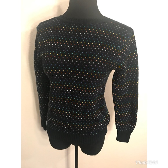 Vintage Sweaters - Vintage tiny hearts sweater