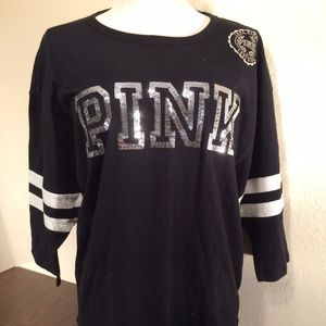 Victoria's Secret PINK Black Bling T-Shirt - NWT