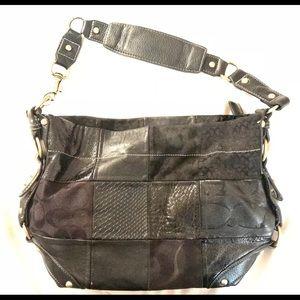 Black Coach patchwork purse