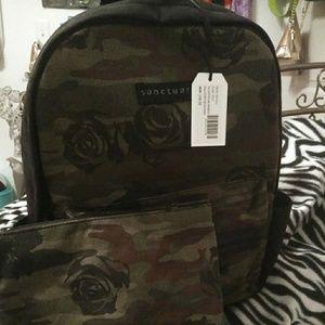 Sanctuary/BlackRose/Camo/Backpack.W/Extra Bag