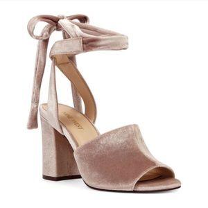 Nine West Velvet Sandals