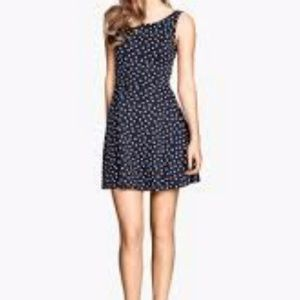 Two for a 20. Polka dot navy A line short dress