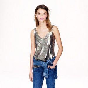J.Crew Cate Cami in Paisley Lame