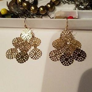 Lia Sophia gold color earrings