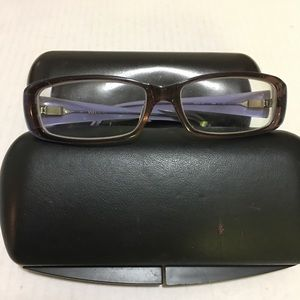 vera wang glasses with two cases