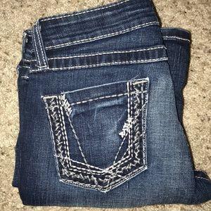 BKE Sabrina Stretch wide leg blue jeans