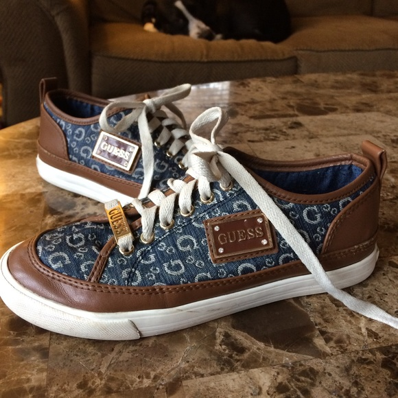 1764658ca Guess Shoes | Canvas Leather Sneaker | Poshmark