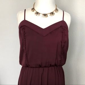 H&M Collection Long Burgundy Slip Dress