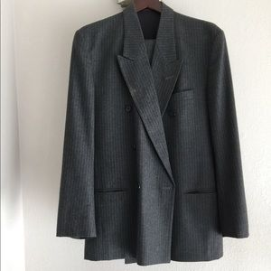 Other - Pinstriped Doublebreasted Wool Suit