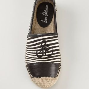 Sam Edelman Striped Espadrilles Slip On Flats