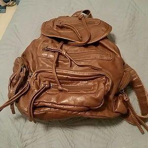 Brown tan backpack