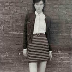 Club Monaco Tweed Skirt with Leather Trim 00