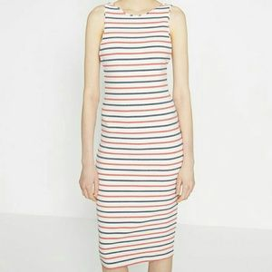 Zara midi stripe dress size xs