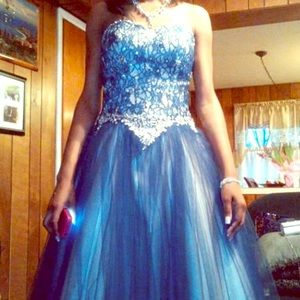 A princess dress( worn once). Navy blue