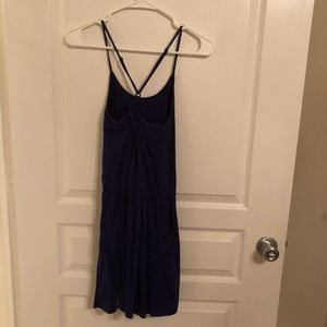 Casual blue dress with criss cross straps