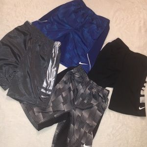 4 pairs of Nike athletic shorts for boys size 6