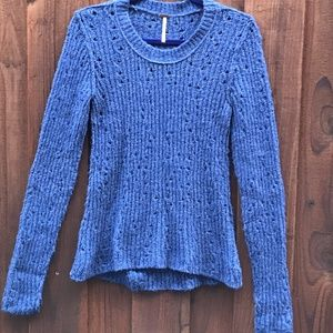 Free People Soft Blue sweater Small wool blend