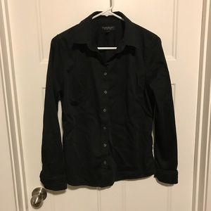 Banana Republic Black button up shirt size 12