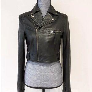 Forever 21 100% leather moto jacket