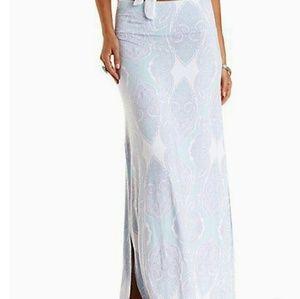 Charlotte Russe Paisley Maxi Skirt