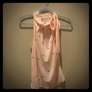 Pink dressy sleeveless top