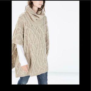 Zara Knitted poncho