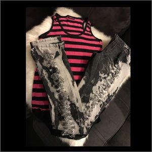 Denim - Tank top & jeans bundle