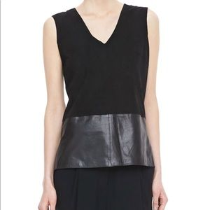 Vince suede leather top