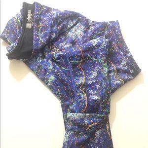 Lularoe multicolor blue leggings