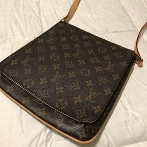 Louis Vuitton Monogram Flap Crossbody Bag