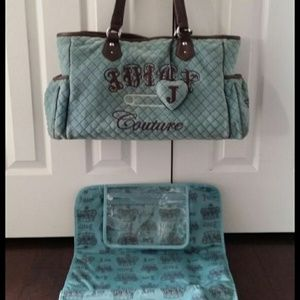 Juicy Couture Quilted Diaper Bag