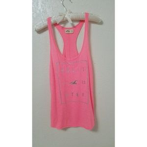Large Hollister Bright Pink Razorback Tank