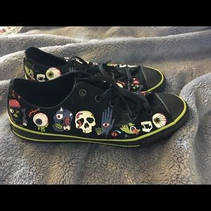"Converse ""creepers"" black low tops"