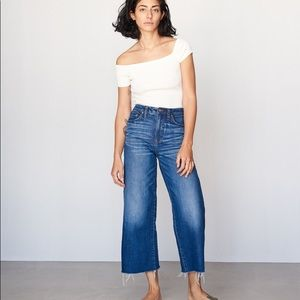 Madewell wide-leg crop jeans in frida wash