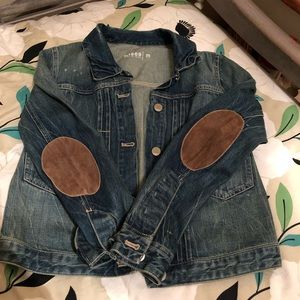 Gap suede elbow patch jean jacket