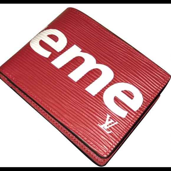 312bd9c3b5af Louis Vuitton X Supreme Slender Wallet Epi Red