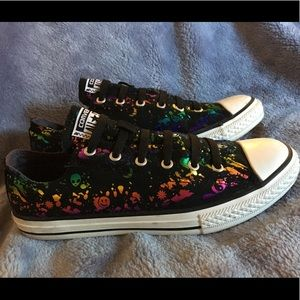 Converse low top rainbow hologram aliens youth 6