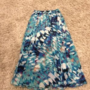 Sheer Maxi with lining to the knees Size M