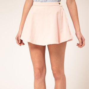 Pink corduroy circle skirt