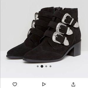 ASOS Suede Black Ankle Boots