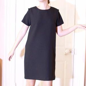 Zara Black Shoulder Detail Shift Dress