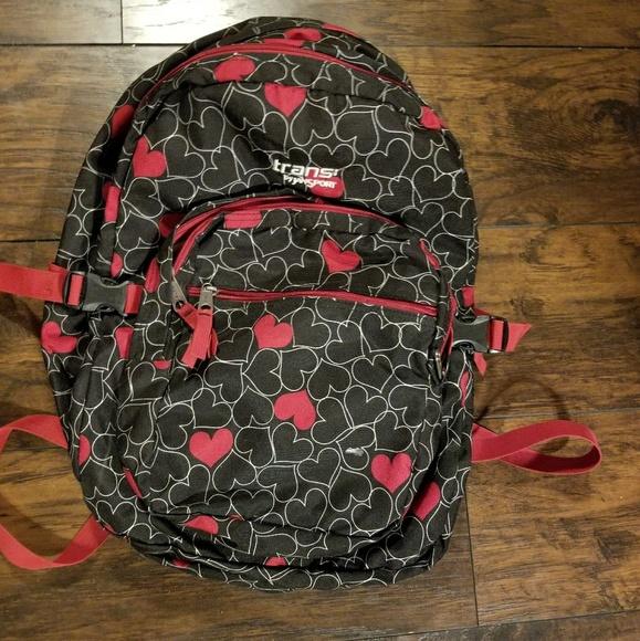Jansport Accessories   Hearts Backpack   Poshmark 5066099e59