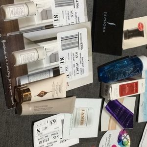 Lot of 40 samples Tinted Nude travel size, la mer,