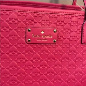 🌺NWT Kate Spade Pink Large Zippered Tote