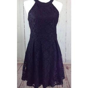 NEW Black Floral Crochet Lace Sleeveless Dress