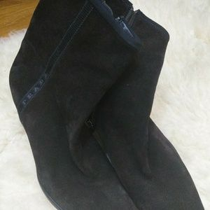 Prada Suade Ankle Boots - 9.5